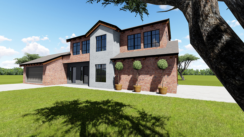 New Architectural for Mr. van der Knoetze on their scenic farm near Sasolburg