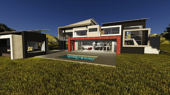 Another young and tasteful couple from the Vaal appointed Riscali to share in their passion for building their current dream house, we were also extensively involved on site in SW5 Proper Vanderbijlpark. This was a large stand, re-zoned for four full title properties. This is the first of the four our Architects designed